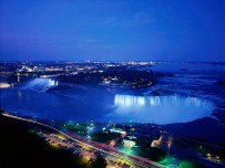 Niagara Falls At Night Ontario Canada